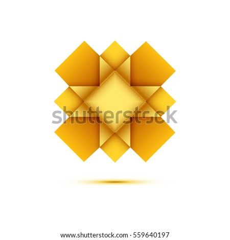 Vector Origami Cross Paper On White Stock Vector 559640197