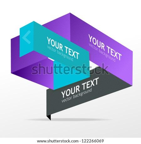 Vector origami speech templates for text - stock vector