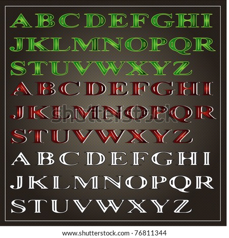 Vector original color font