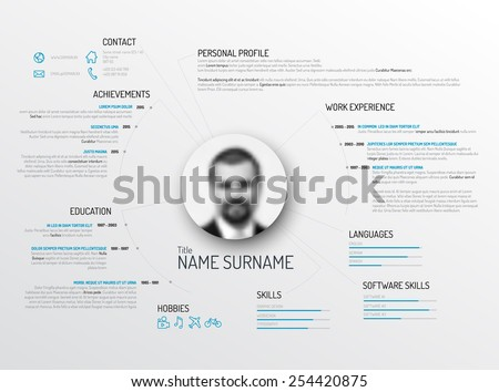 Vector original minimalist cv / resume template - creative version - stock vector