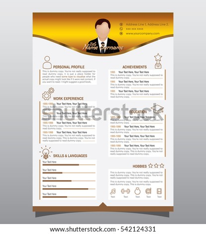 colorful resume templates microsoft word color scheme template free stock vector original minimalist creative version gold