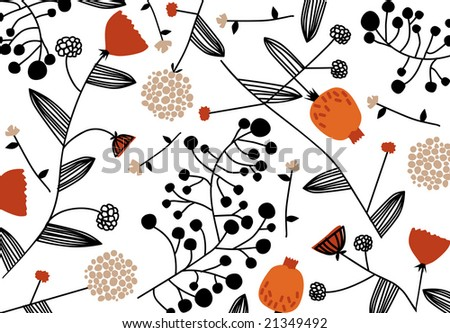 vector - original nature wallpaper - stock vector
