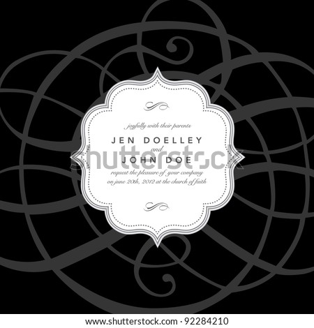 Vector Ornament and Frame - stock vector