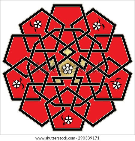 Vector ornament. Celtic knot style - stock vector