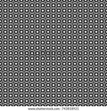 Vector ornament in gray, black and white colors. Embroidery for fashion textile and fabric. Embroidery seamless pattern with abstract diagonal tiles.
