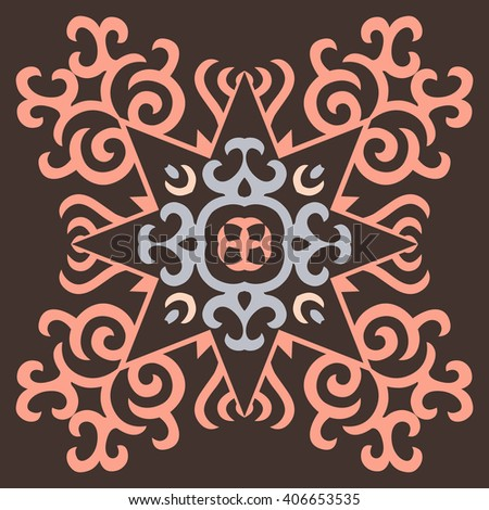 Vector Ornament With Caucasian Motifs