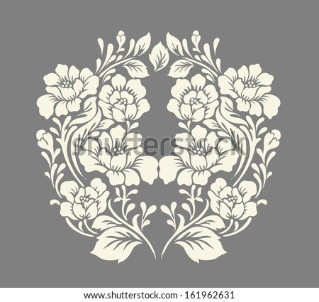 Vector ornamental Decorative elements design,rose bouquet. - stock vector