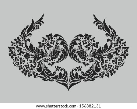 Vector ornamental Decorative elements design,vintage frame,luxury frame
