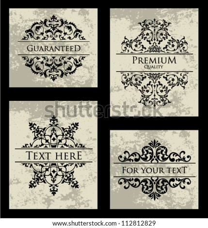 Vector Ornamental Frame Set. - stock vector