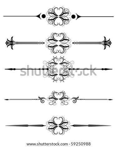 vector ornamental rules, lines, elements - stock vector