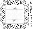Vector ornaments and frame. Easy to scale and edit. All pieces are separated. - stock