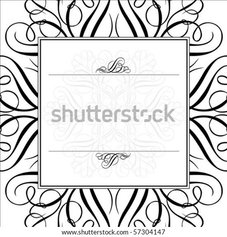 Vector ornaments and frame. Easy to scale and edit. All pieces are separated. - stock vector