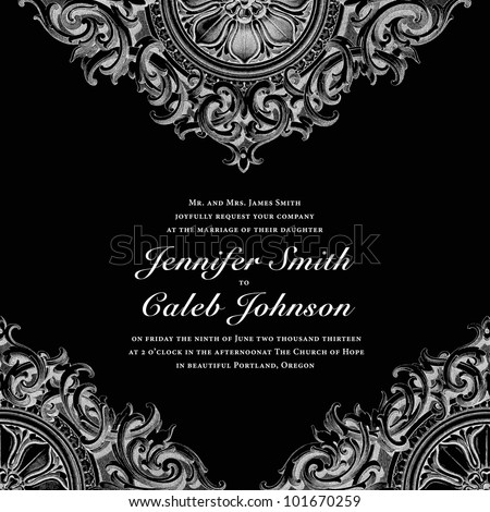 Vector Ornate Background. Perfect for wedding invitations and announcements. - stock vector