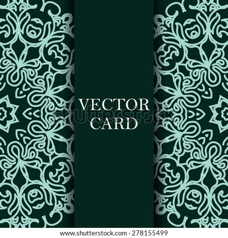 Vector ornate decor with place for text. Card for you in retro style - stock vector
