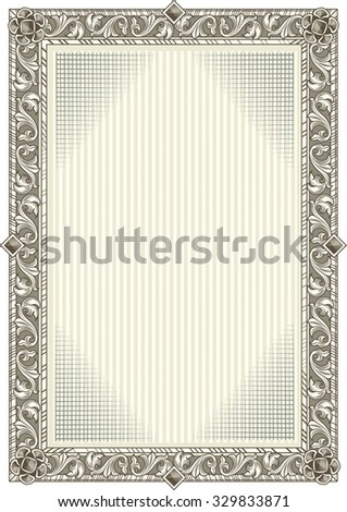 Vector ornate decorative vintage blank background - stock vector