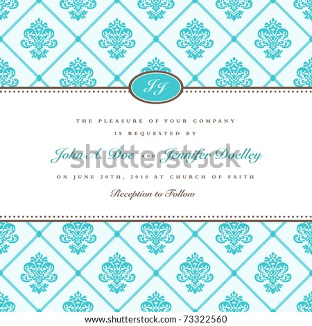 Vector ornate frame and checkered pattern. Easy to edit. Perfect for invitations or announcements. - stock vector