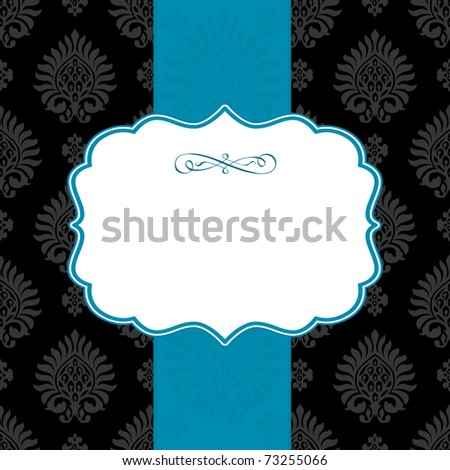 Vector ornate frame and repeating background. Easy to edit. Perfect for invitations or announcements. - stock vector