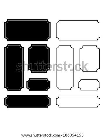 Vector Ornate Frame, Carrier and Border Set