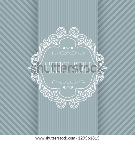 Vector ornate frame for invitation or announcement. - stock vector