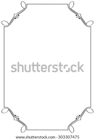 vector ornate frame. perfect for invitation or announcement - stock vector
