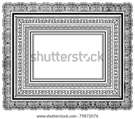 Vector Ornate Layered Frames. Easy to edit. Perfect for invitations or announcements. - stock vector