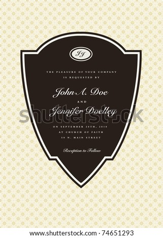 Vector ornate pointed frame. Easy to edit. Perfect for invitations or announcements. - stock vector