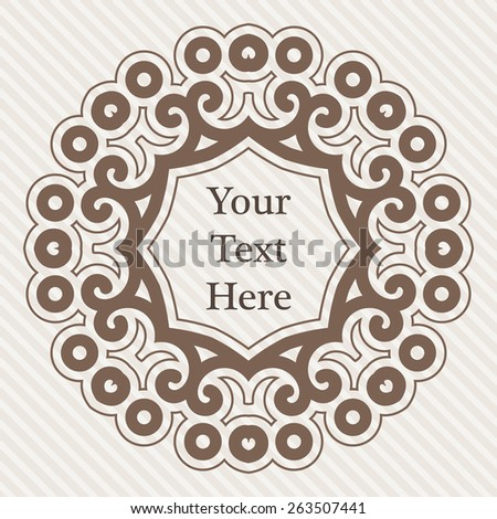 Vector ornate richly decorated vintage frame in Victorian style - stock vector