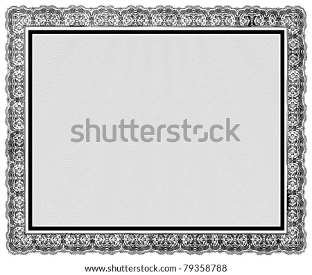Vector Ornate Vintage Frame. Easy to edit. Perfect for diplomas, certificates, and other ornate designs. - stock vector