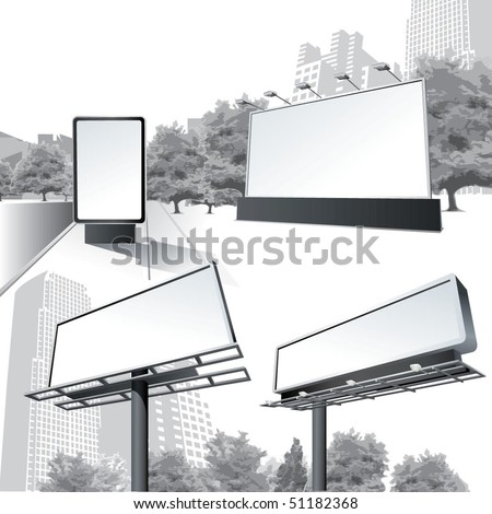 Vector Outdoor Billboard - stock vector