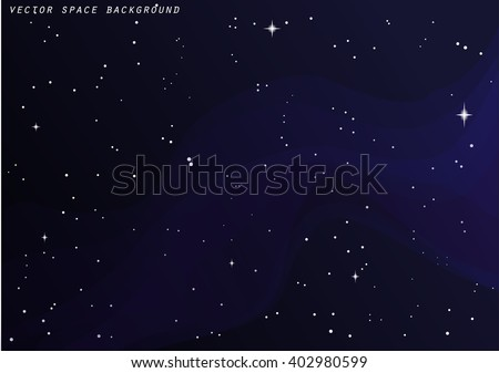 Vector outer space star background. Night sky. - stock vector