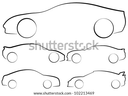 car outline stock images  royalty free images   vectors police car outline vector police car outline vector