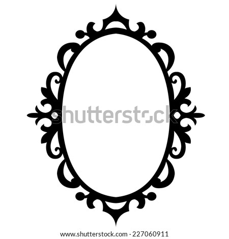 vector oval pattern - stock vector