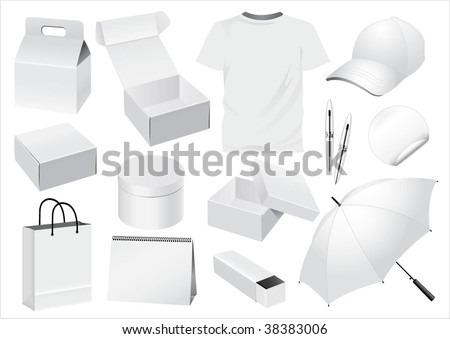 Vector Packaging and Souvenir dummy - stock vector