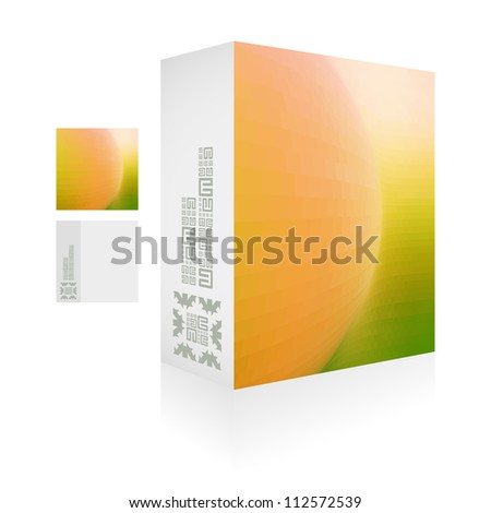 Vector packaging box. Abstract illustration. - stock vector