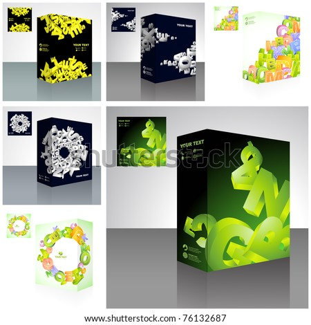 Vector packaging box. Abstract illustration.