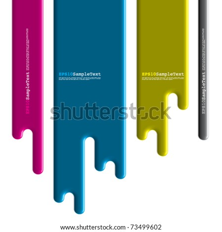Vector Paint Dripping, Flasher Design - stock vector