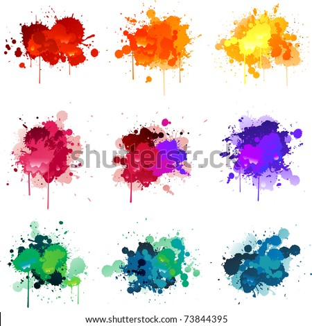 Vector paint splat - stock vector