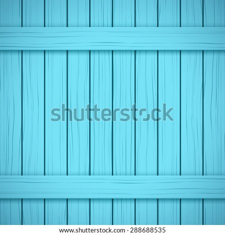 Vector Painted Wood Backdrop. Blue color. Vertical and horizontal. - stock vector