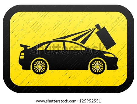 Vector. Painting car. - stock vector