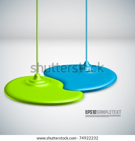 Vector Paints Dripping - stock vector
