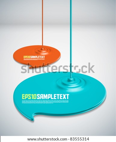 Vector Paints Dripping Speech Bubbles - stock vector