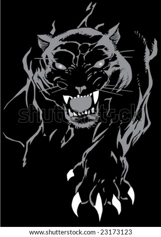 Vector pantera portrait - stock vector