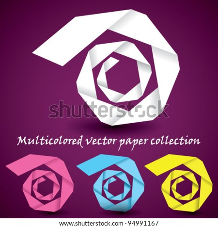 Vector paper abstract spiral collection