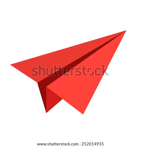 vector paper aircraft - stock vector