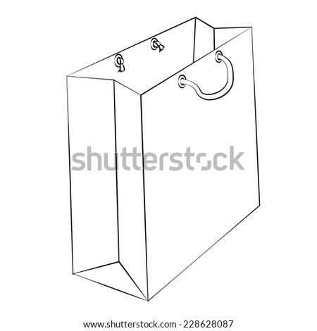 Vector paper bag reduce global warming stock vector royalty free vector paper bag to reduce global warming is isolated on a white background malvernweather Choice Image