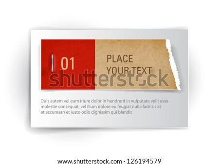 Vector paper banner background - stock vector