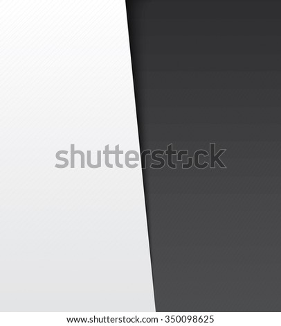 Vector paper banners background. - stock vector