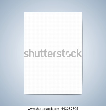 Vector paper. Blank paper, Lined paper with pencil, layout template for graphic, creative, business, education,  A4 size. vector illustration
