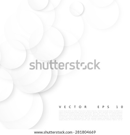 Vector Paper circle banner. Abstract background. Circles and white bubble - stock vector