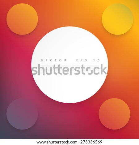 Vector Paper circle with drop shadows. Web banner - stock vector